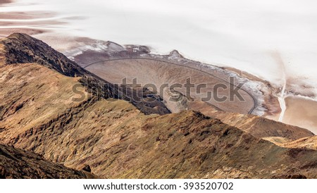 Dramatic panoramic view. Dante's View, Death Valley National Park - stock photo