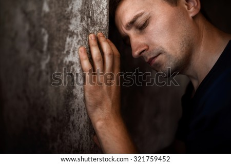 dramatic portrait - stock photo