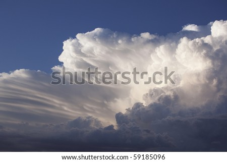 Dramatic sky before storm - stock photo