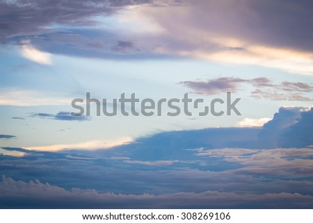 Dramatic sky cloud texture background