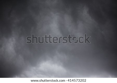 Dramatic sky with stormy clouds. - stock photo