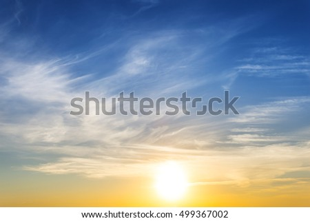 dramatic sunset sky background