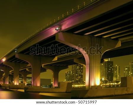 Dramatic Surreal Causeway - stock photo