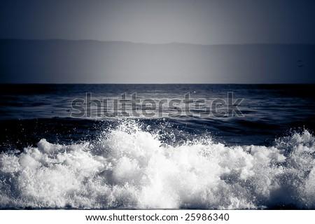 Dramatic Wave Crashing - stock photo