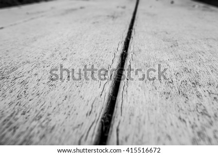 Dramatic wooden background. Wooden background balck and white. Table in perspective. Wood Texture, Wooden Plank Grain Background, Striped Timber, Old Table or Floor Board - stock photo
