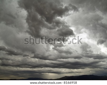 Drastic skies - stock photo