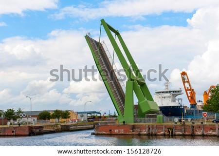 draw-bridge - stock photo