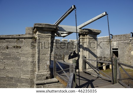 Draw Bridge to Castillo San Marco in St Augustine - stock photo