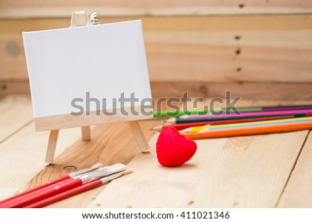 draw painting canvas empty space for text, love art background concept.
