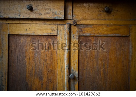 Drawers of a Wooden vintage Dresser - stock photo