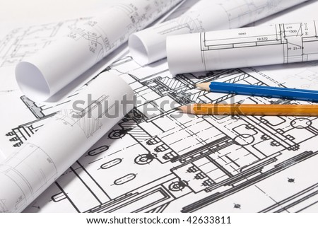 Drawing and pencils - stock photo