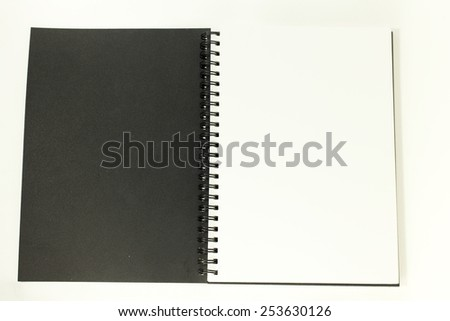 Drawing book isolated on white background