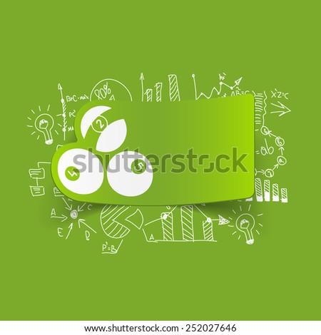 Drawing business formulas: billiards - stock photo