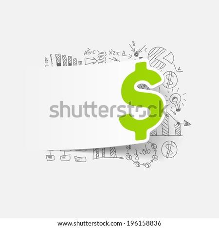 Drawing business formulas: money - stock photo