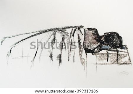 "Drawing ""Dream"" - stock photo"