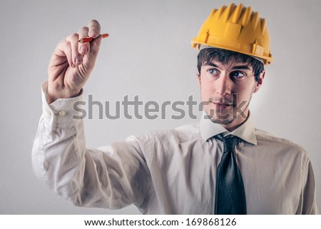 Drawing Engineer - stock photo