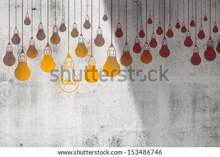 drawing idea light bulb concept creative design - stock photo