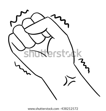 drawing line art hand sign