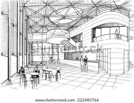 drawing Lounge - stock photo