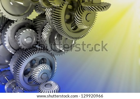Drawing mechanism on a abstract background