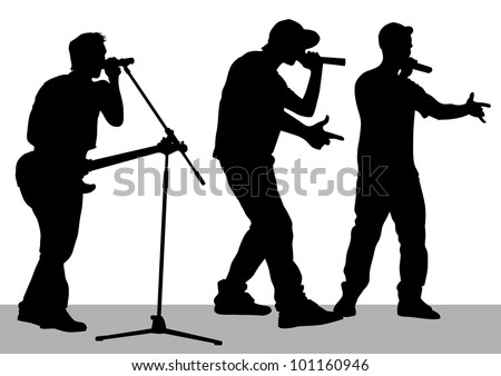 drawing of a band on stage