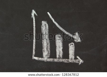 Drawing of Business chart on blackboard