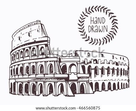 Roman Colosseum Drawing Step By Step 93631 Usbdata