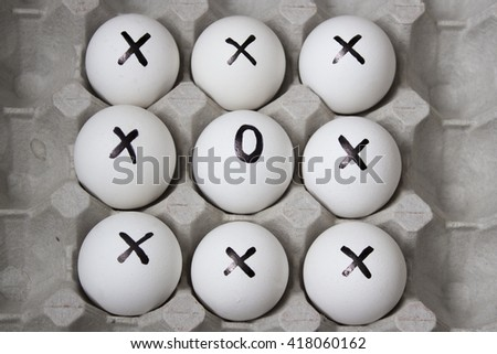 Drawing on eggs - dissimilar concept