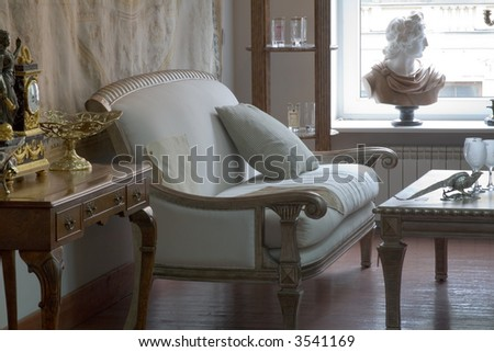 Drawing room in classical slyle
