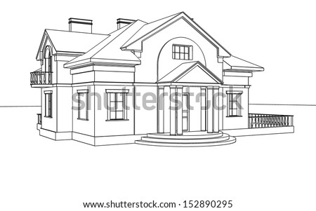 Awesome Drawing, Sketch Of A House