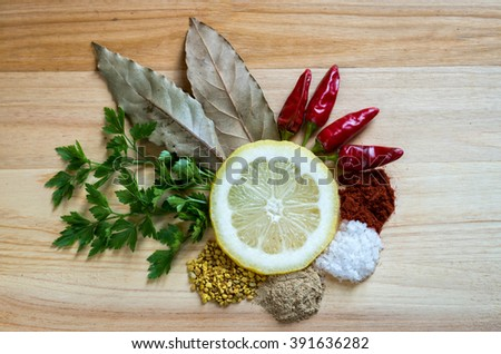 Drawing some spices - stock photo