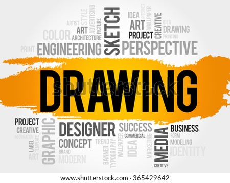 DRAWING word cloud, business concept - stock photo