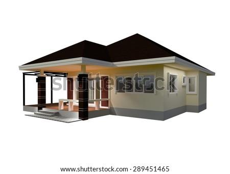 Drawings, Design House 3D Render.