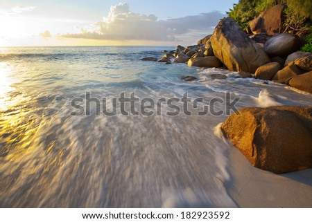 Dream Beach - Anse Georgette - stock photo