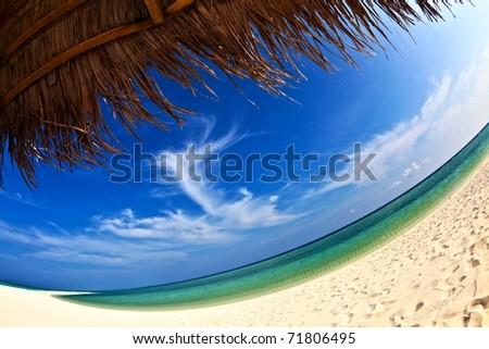 Dream beach, Maldives, The Indian Ocean - stock photo