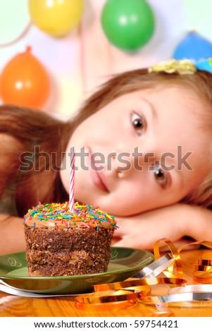 dream girl in her birthday - stock photo