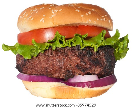Dream hamburger isolated on white - stock photo