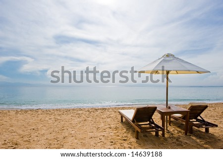 dream holiday beach - stock photo