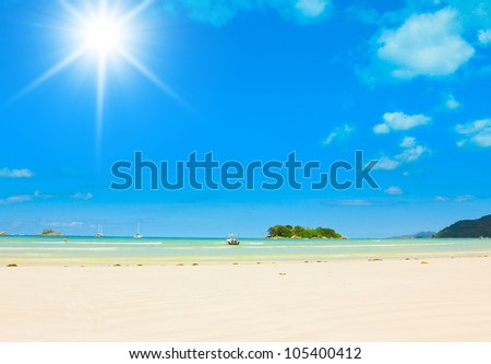 Dream Jungle Bay - stock photo