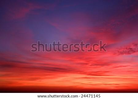 Dream Sunset, Lebanon - stock photo