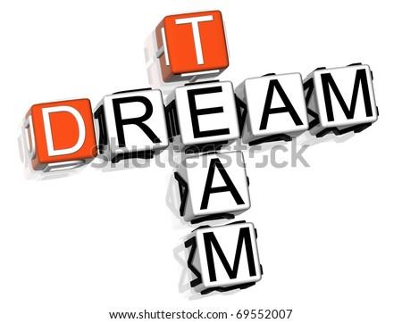 Dream Team Crossword - stock photo