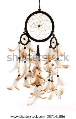 Dreamcatcher isolated on white background - stock photo
