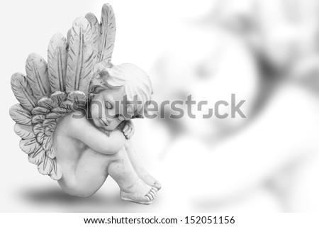 Dreaming Angel - stock photo