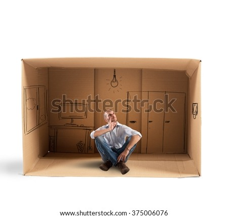 Dreaming future office - stock photo