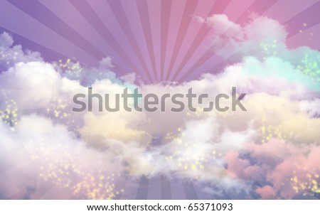 Dreaming in Heaven Night - stock photo