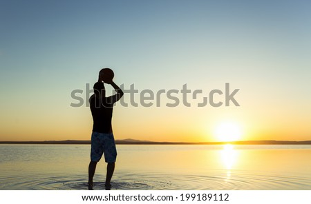 Dreaming of hoops - stock photo