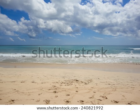 Dreamland beach at Bali - stock photo