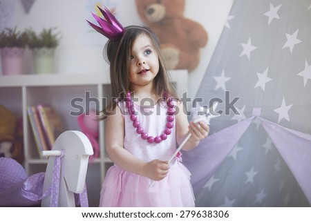 Dreams about being princess comes true - stock photo