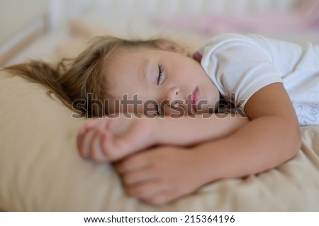 dreams of the toddler sweet girl - stock photo