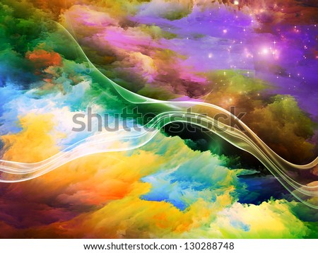 Dreamscape Series. Backdrop composed of colorful fractal paint and lights and suitable for use in the projects on art, abstraction and creativity